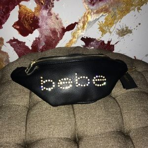 BEBE Fanny Pack Hip Purse Black New